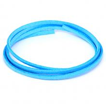 SHZ1147 Замшевый шнурок для амулета, цвет ярко-голубой