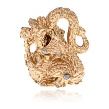 SR-K-30045 Кошельковый сувенир Дракон, цвет золотой