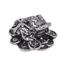SR-K-30090 Кошельковый сувенир Лягушка с монетами, цвет серебряный
