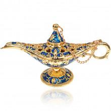 ST002-3 Сувенир Лампа Аладдина, 11,5х4х6,5см, цвет сине-золотой