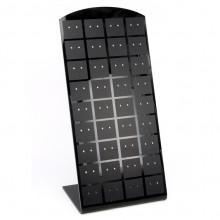 STN-E02 Дисплей для серег 90x55x195мм, чёрный блестящий акрил