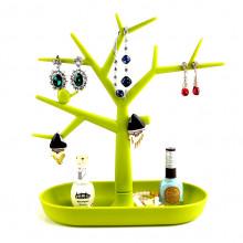 STN010-3 Подставка для бижутерии Дерево 28х28см, пластик, цвет зелёный