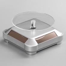 STN012-1 Вращающийся дисплей на солнечных батареях 10х10х5см серебристый