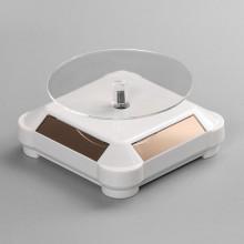 STN012-4 Вращающийся дисплей на солнечных батареях 10х10х5см белый