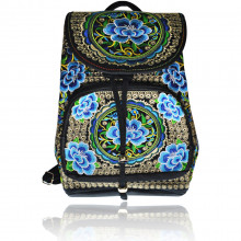 SUM015-2 Рюкзак с цветочным принтом 35х25х12см, ткань