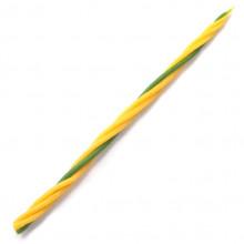 SVM7-13 Скрутка из 4-х свечей Мир в семье, 100% воск, 21см, 3 жёлт., 1 зелён.