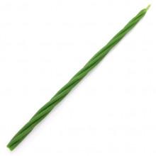 SVM7-19 Скрутка из 4-х свечей Гармония, 100% воск, 21см, 4 зелён.