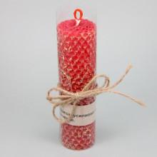 SVM8-07 Свеча из вощины с травой Лакрица 13х3,5см