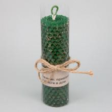 SVM8-09 Свеча из вощины с травой Базилик 13х3,5см