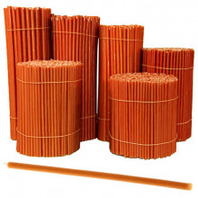 SVO-100 Свеча восковая Оранжевая № 100, 165х5,7мм, время горения 50мин