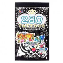 TTI012-28 Временные татуировки набор 5 листов 8,5х16см Тигры