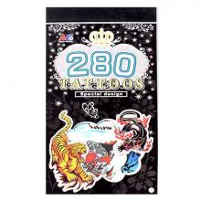TTI012-30 Временные татуировки набор 5 листов 8,5х16см Тигры