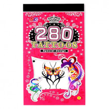 TTI012-40 Временные татуировки набор 5 листов 8,5х16см Бабочки