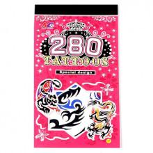 TTI012-44 Временные татуировки набор 5 листов 8,5х16см Животные, драконы