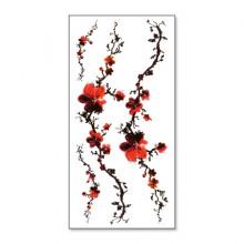 TTQC-659 Набор временных татуировок Ветвь с цветами, 21х10см