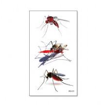 TTRC-411 Набор временных татуировок Комар, 10,5х6см