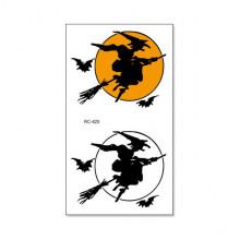 TTRC-425 Набор временных татуировок Ведьма на метле, 10,5х6см