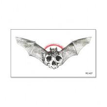 TTRC-427 Набор временных татуировок Летучая мышь и череп, 10,5х6см