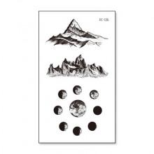 TTRC-536 Набор временных татуировок Гора и фазы луны, 10,5х6см