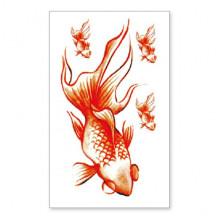 TTSY-A134 Временная татуировка Золотая рыбка, 60х105мм