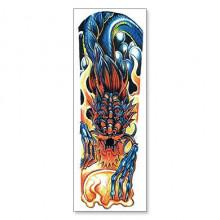 TTWD-004 Временная татуировка Синий Дракон, 150х420мм