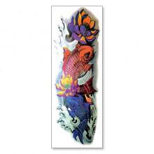 TTWD-006 Временная татуировка Рыбы и Лотос, 150х420мм