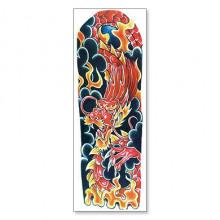 TTWD-008 Временная татуировка Красный Дракон, 150х420мм