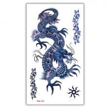 TTWM-144 Временная татуировка Китайский дракон 6х10,5см