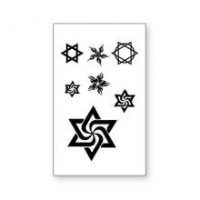 TTWM-149 Временная татуировка Звезда Давида и Мантра, 60х105мм
