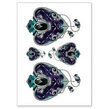 TTWX-002 Временная татуировка Сердце, 150х210мм