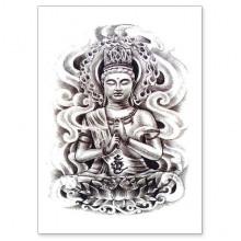 TTWX-016 Временная татуировка Будда, 150х210мм