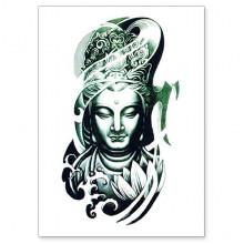 TTWX-025 Временная татуировка Будда, 150х210мм