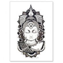 TTWX-032 Временная татуировка Будда, 150х210мм