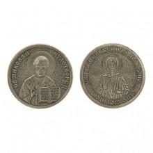 V-M018 Православная монета Николай Чудотворец/Святая Матрона 30мм, латунь