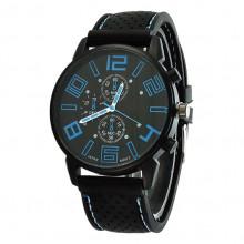 WA036-BL Часы наручные чёрно-синие