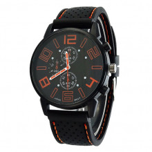 WA036-O Часы наручные чёрно-оранжевые
