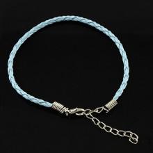 ZB001-09 Заготовка для браслета с замком 20см, иск.кожа, цвет голубой