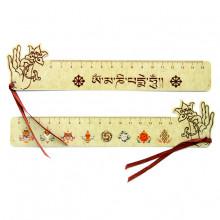 ZK006 Буддистская закладка - линейка 20х5см