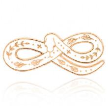 ZN054 Значок Змея-Бесконечность, 3,5х1,5см
